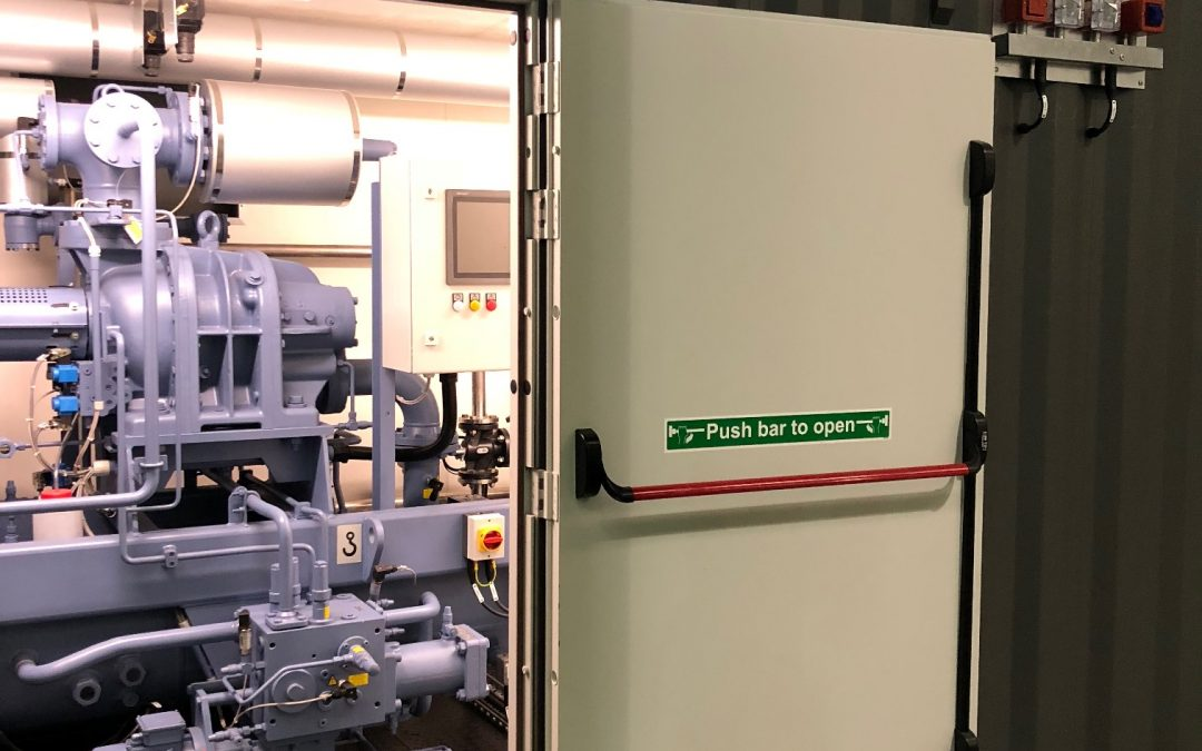 Containerised ammonia plant room for the Outer Hebrides.